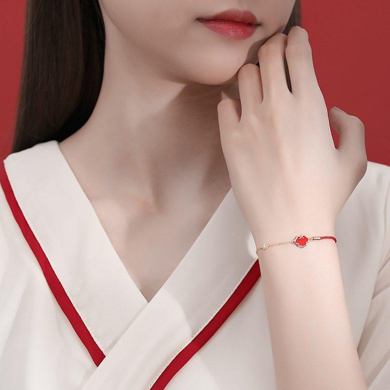 Lắc tay Vòng tay bạc hình trái tim cách điệu LILI_225275-03