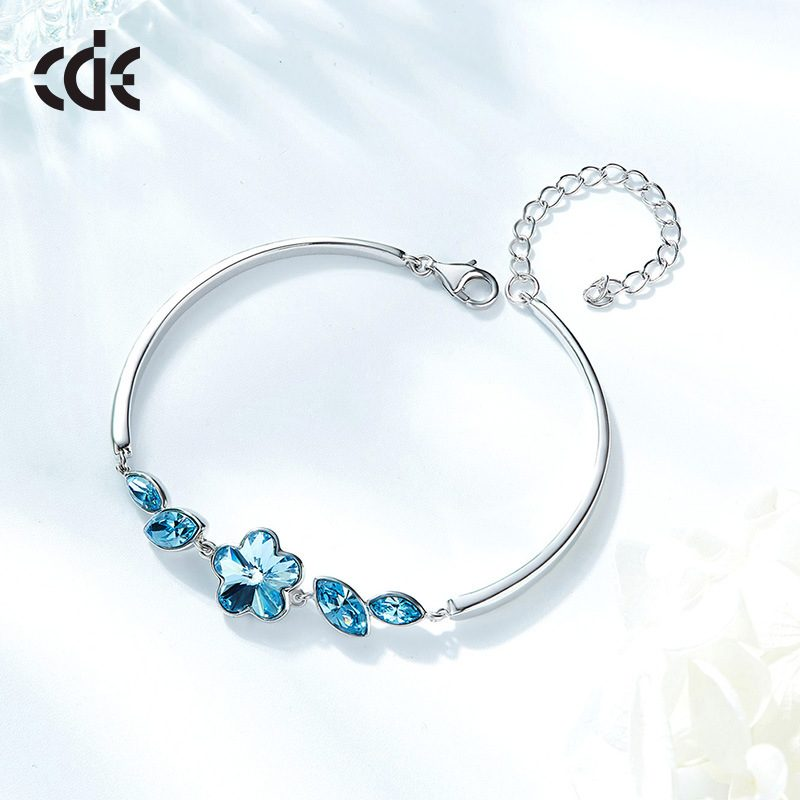 Lắc tay Vòng tay bạc mạ bạch kim đính đá Swarovski LILI_516838-01