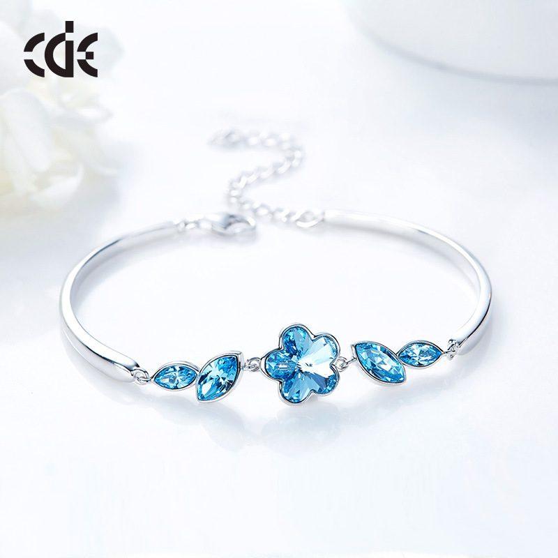 Lắc tay Vòng tay bạc mạ bạch kim đính đá Swarovski LILI_516838-04