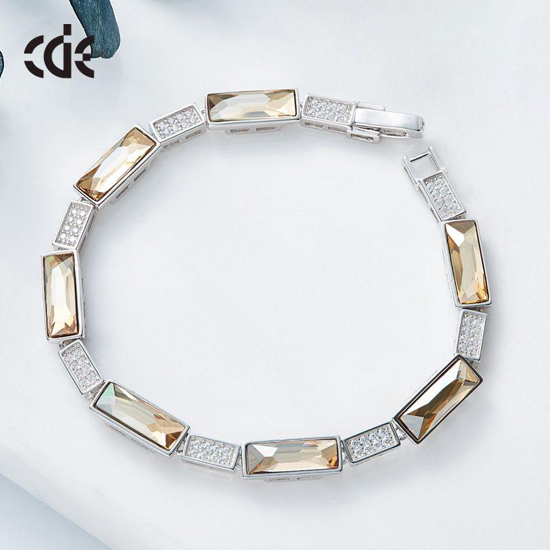 Lắc tay Vòng tay bạc mạ bạch kim đính đá Swarovski LILI_527698-02