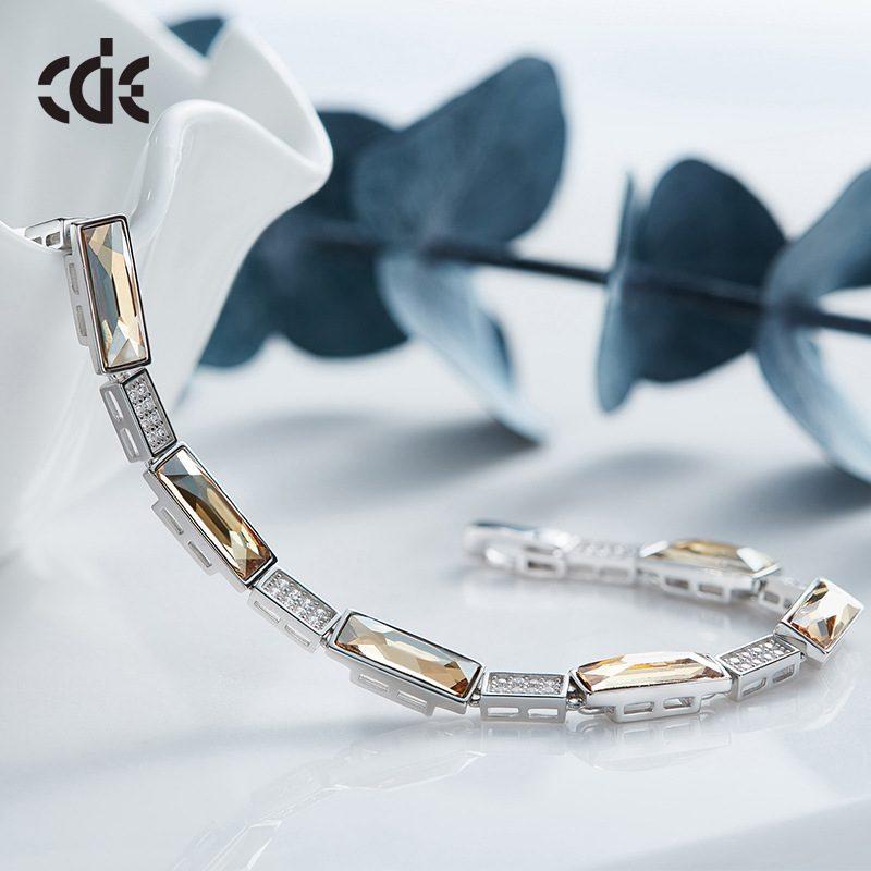 Lắc tay Vòng tay bạc mạ bạch kim đính đá Swarovski LILI_527698-03