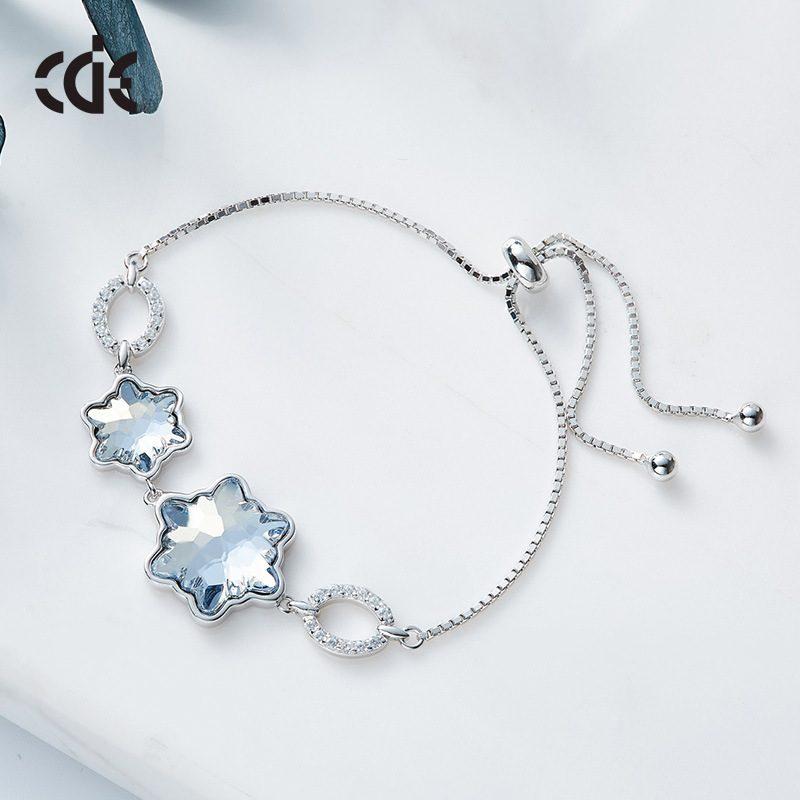 Lắc tay Vòng tay bạc mạ bạch kim đính đá Swarovski LILI_929485-02