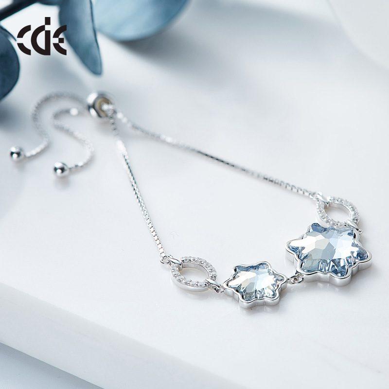 Lắc tay Vòng tay bạc mạ bạch kim đính đá Swarovski LILI_929485-03