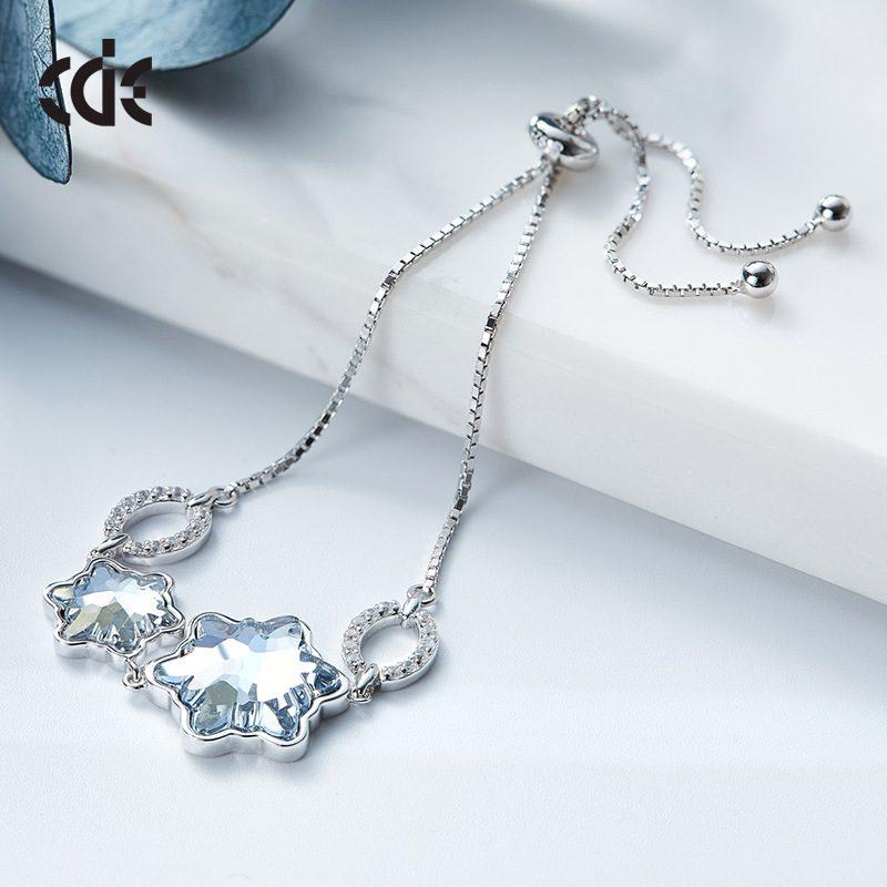 Lắc tay Vòng tay bạc mạ bạch kim đính đá Swarovski LILI_929485-04