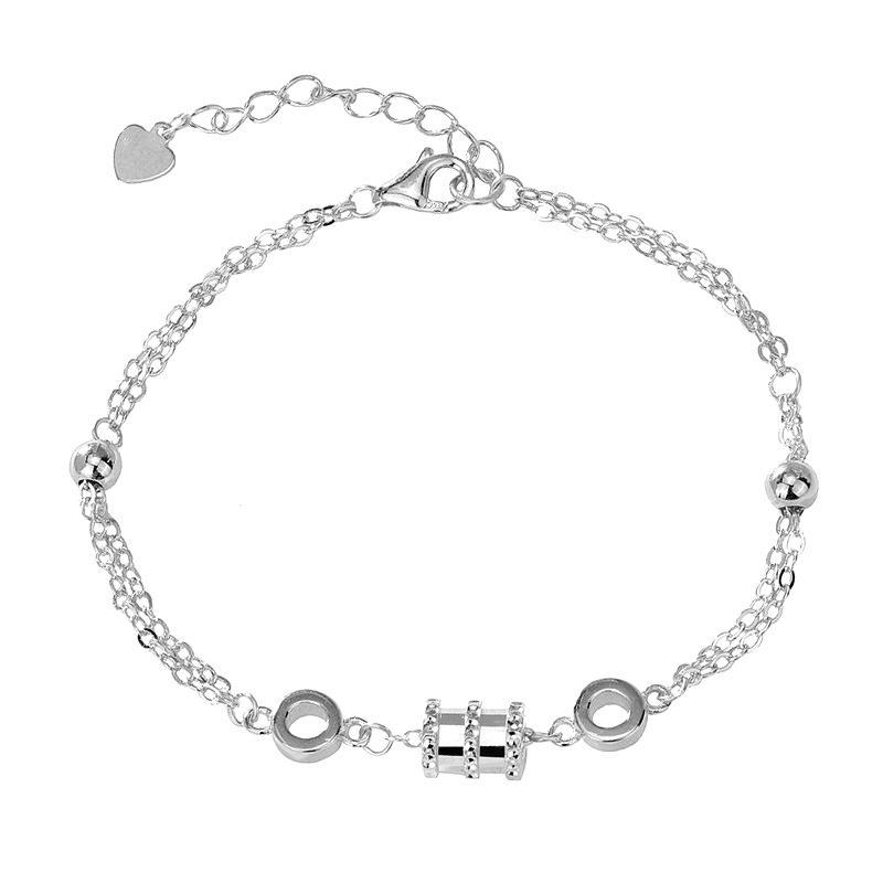 Lắc tay Vòng tay bạc mạ bạch kim đính đá Zircon LILI_213871-07