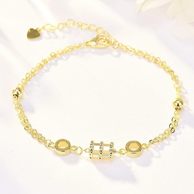 Lắc tay Vòng tay bạc mạ bạch kim đính đá Zircon LILI_213871-08