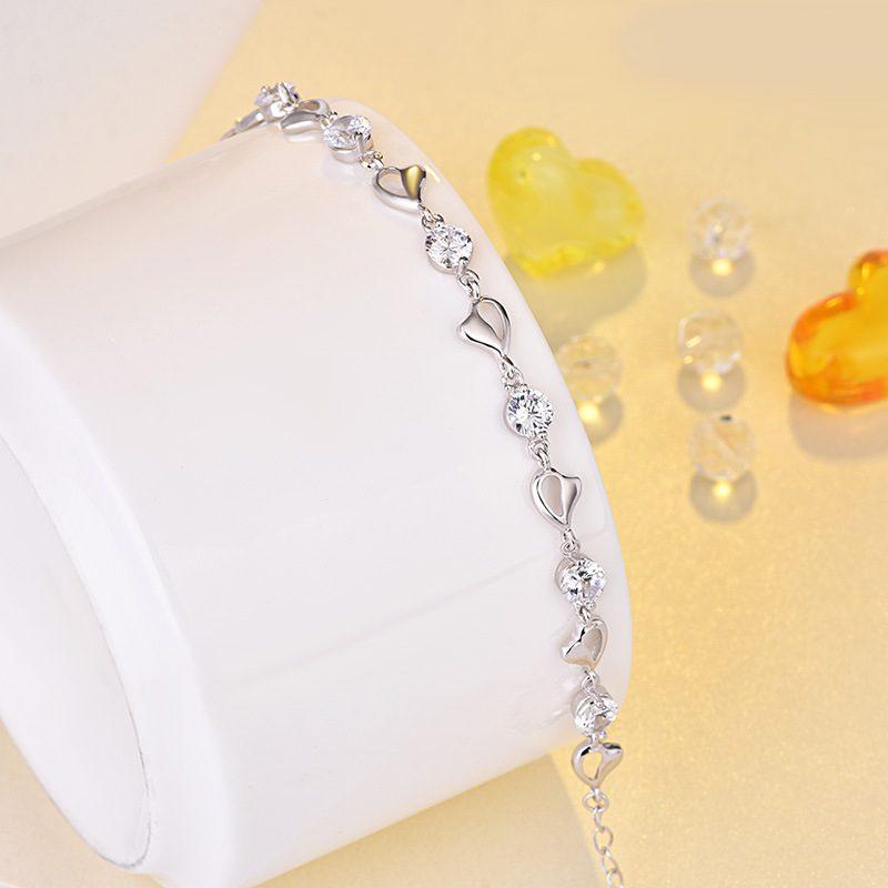 Lắc tay Vòng tay bạc mạ bạch kim đính đá Zircon LILI_276753-01