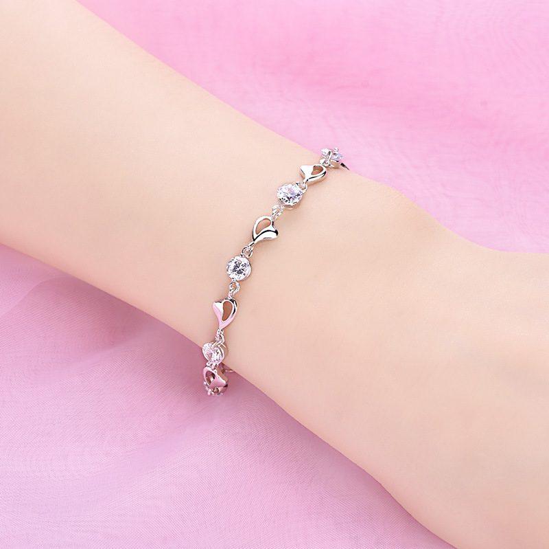 Lắc tay Vòng tay bạc mạ bạch kim đính đá Zircon LILI_276753-03