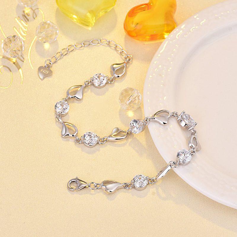 Lắc tay Vòng tay bạc mạ bạch kim đính đá Zircon LILI_276753-04