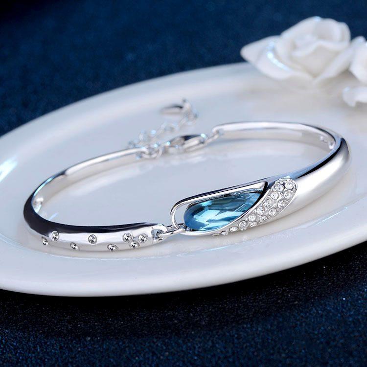 Lắc tay Vòng tay bạc mạ bạch kim đính đá pha lê Eye of the muse LILI_814348-01