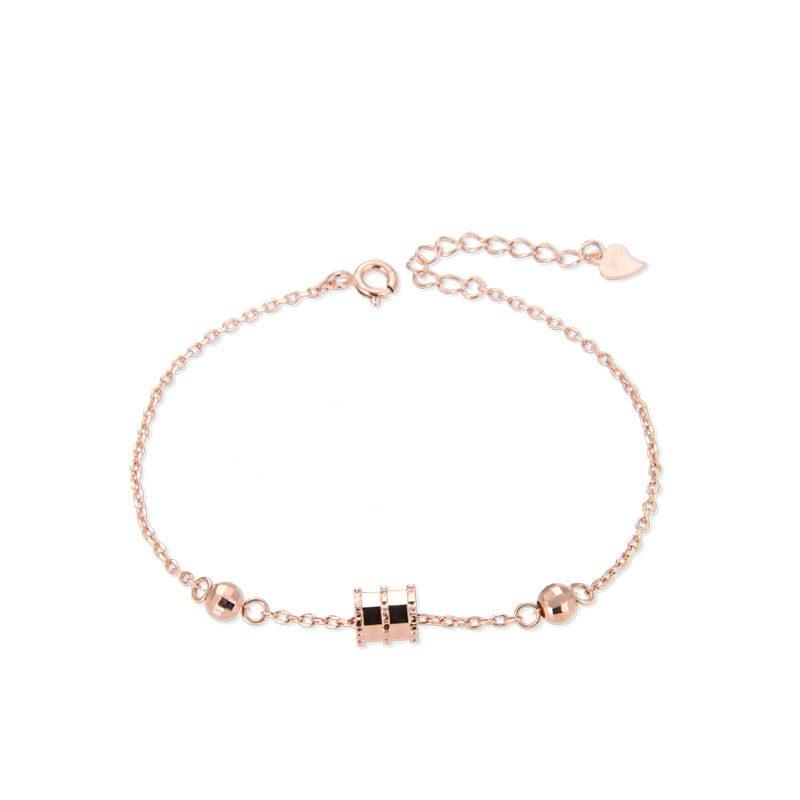 Lắc tay Vòng tay bạc mạ bạch kim đính dạng LILI_393411-04