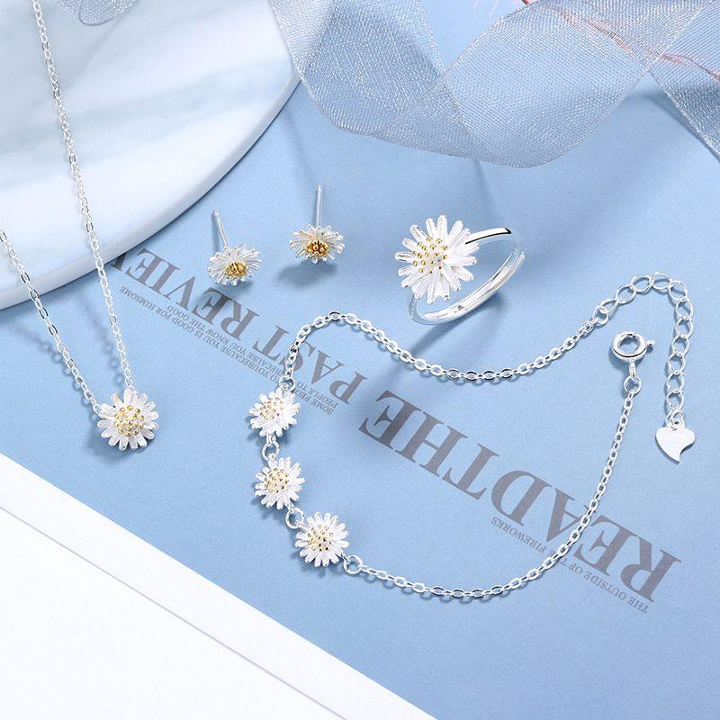Bộ trang sức bạc cúc họa mi LILI_765251-01