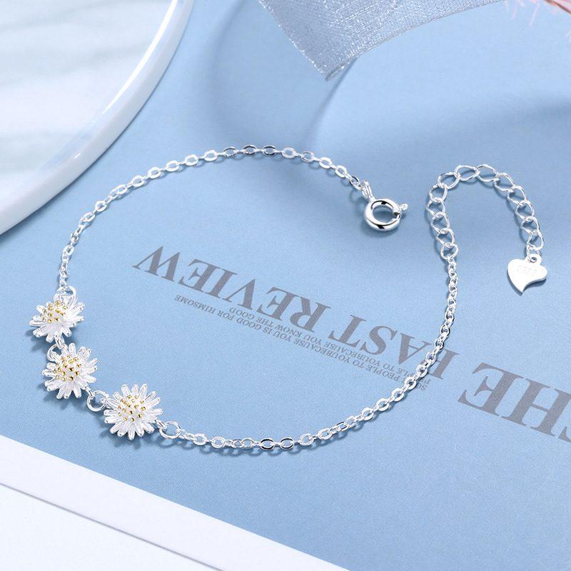 Bộ trang sức bạc cúc họa mi LILI_765251-06