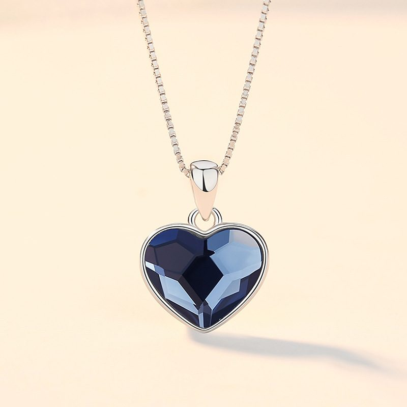 Bộ trang sức bạc đính đá pha lê hình trái tim LILI_941338-01