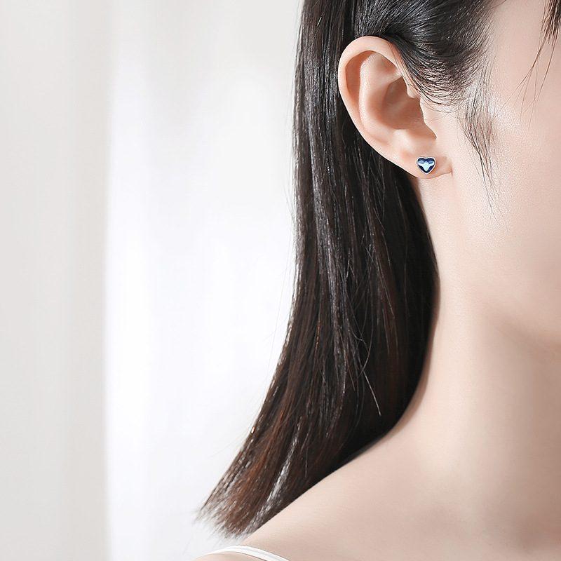 Bộ trang sức bạc đính đá pha lê hình trái tim LILI_941338-02