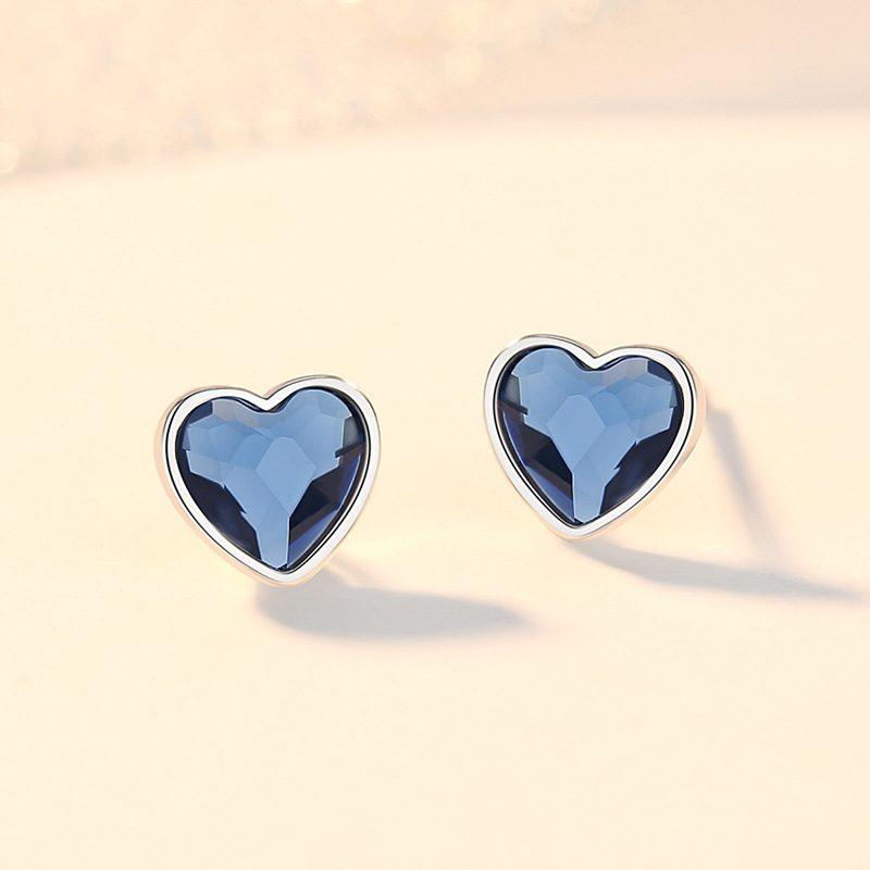 Bộ trang sức bạc đính đá pha lê hình trái tim LILI_941338-04