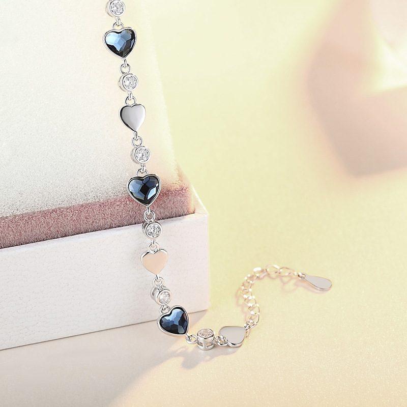 Bộ trang sức bạc đính đá pha lê hình trái tim LILI_941338-05