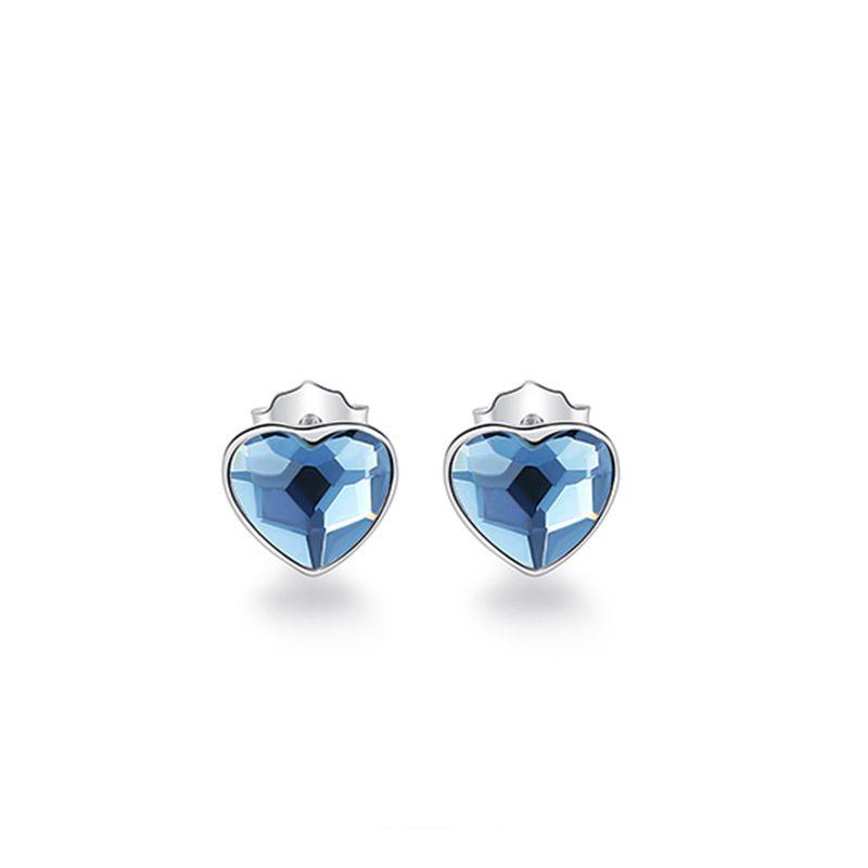 Bộ trang sức bạc đính đá pha lê hình trái tim LILI_941338-06
