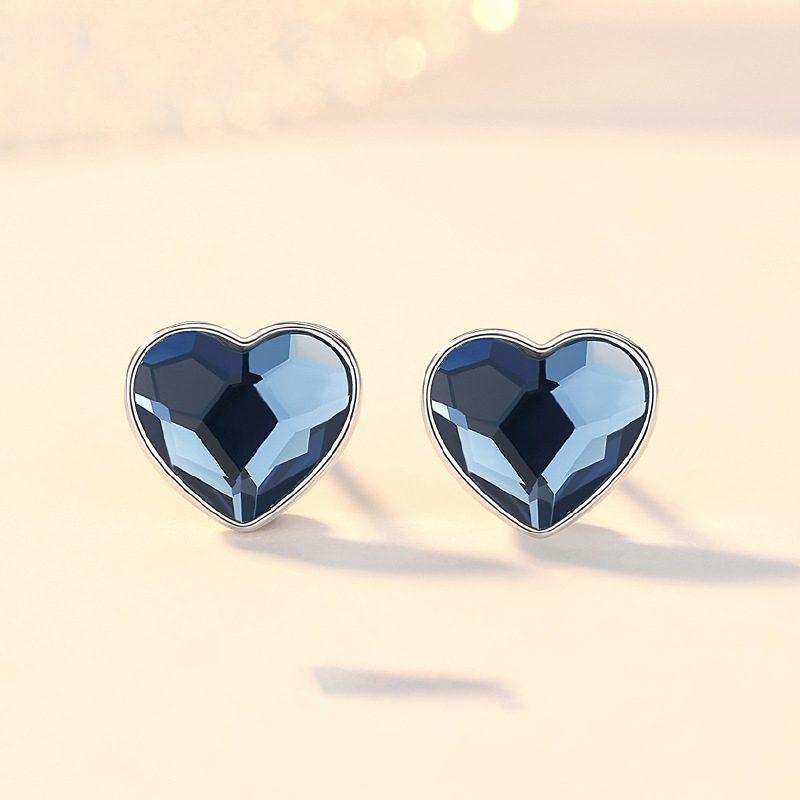 Bộ trang sức bạc đính đá pha lê hình trái tim LILI_941338-07