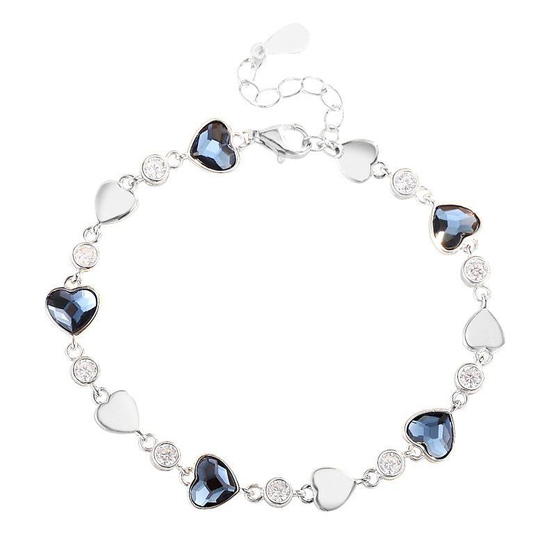 Bộ trang sức bạc đính đá pha lê hình trái tim LILI_941338-09