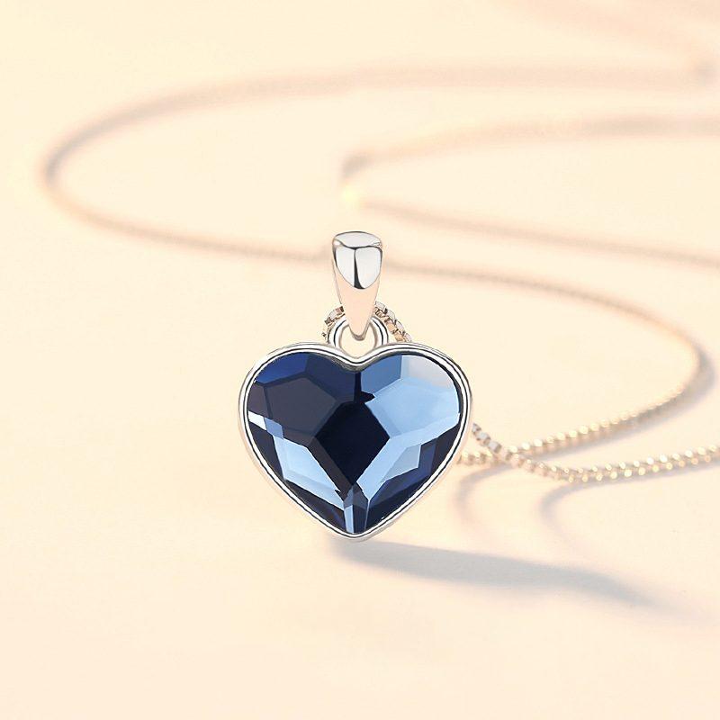 Bộ trang sức bạc đính đá pha lê hình trái tim LILI_941338-11