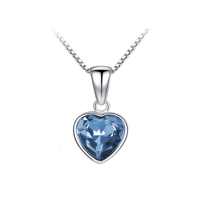 Bộ trang sức bạc đính đá pha lê hình trái tim LILI_941338-14