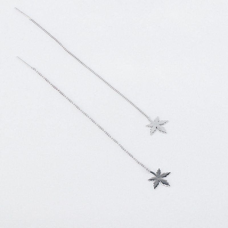 Bộ trang sức bạc mạ bạch kim hình lá phong LILI_841527-05
