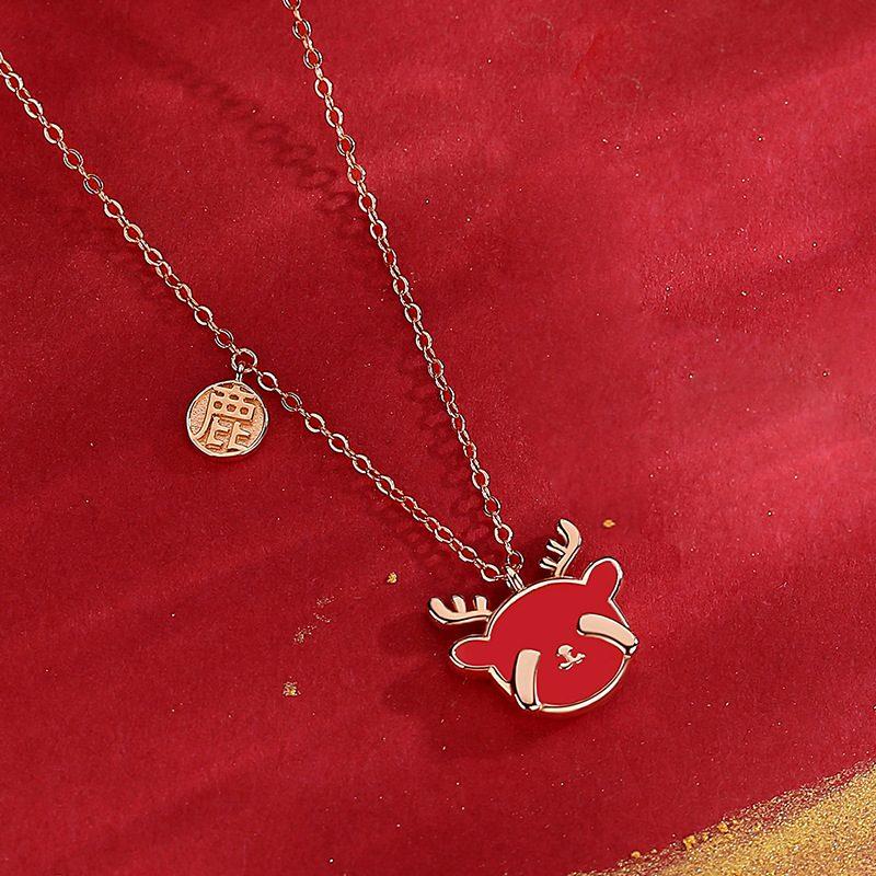 Bộ trang sức bạc mạ vàng hình chú tuần lộc LILI_782927-08