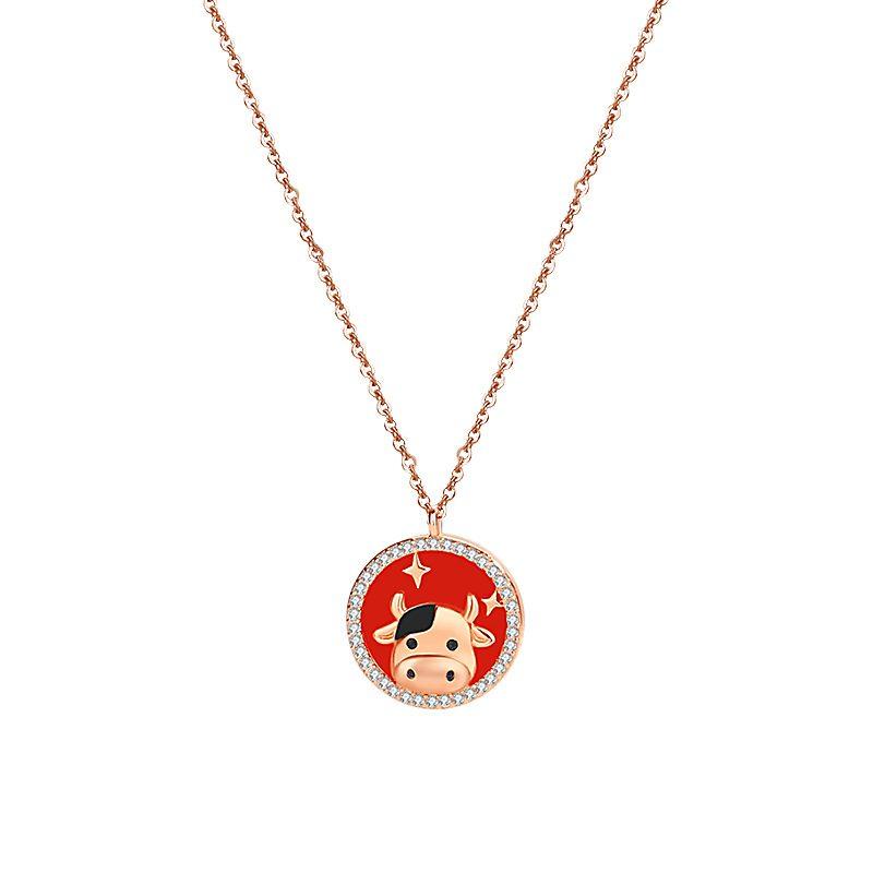 Bộ trang sức bạc mạ vàng sửu dễ thương LILI_871269-03