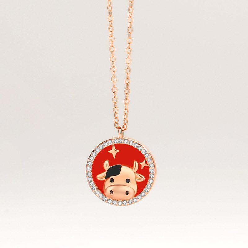 Bộ trang sức bạc mạ vàng sửu dễ thương LILI_871269-06