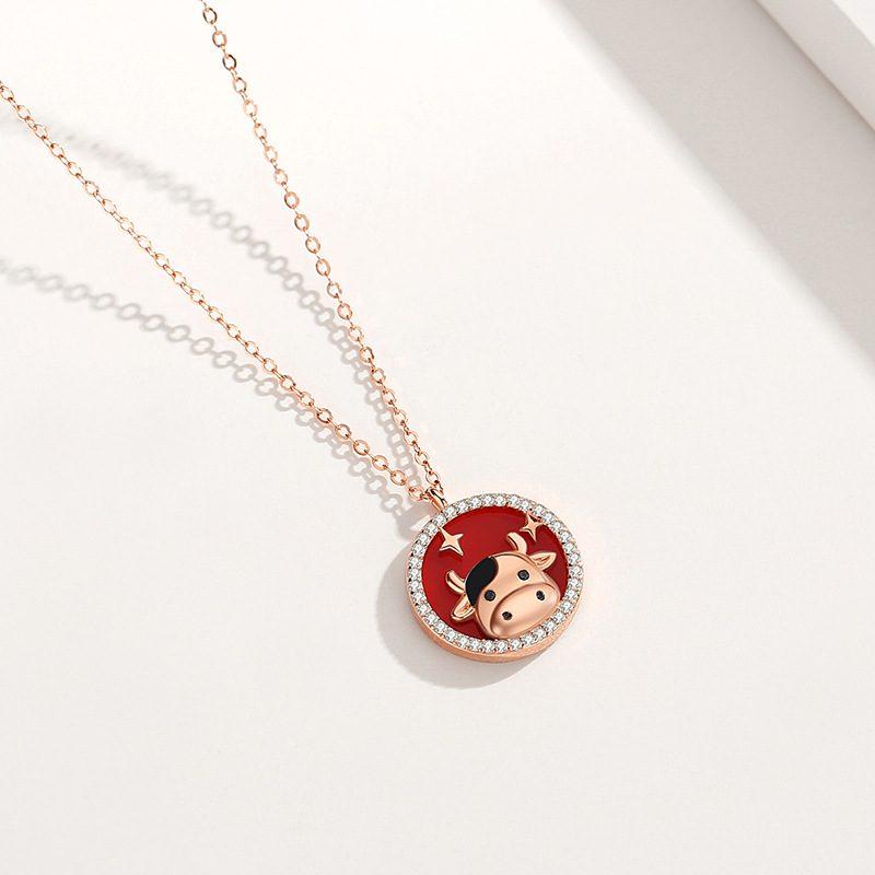 Bộ trang sức bạc mạ vàng sửu dễ thương LILI_871269-08