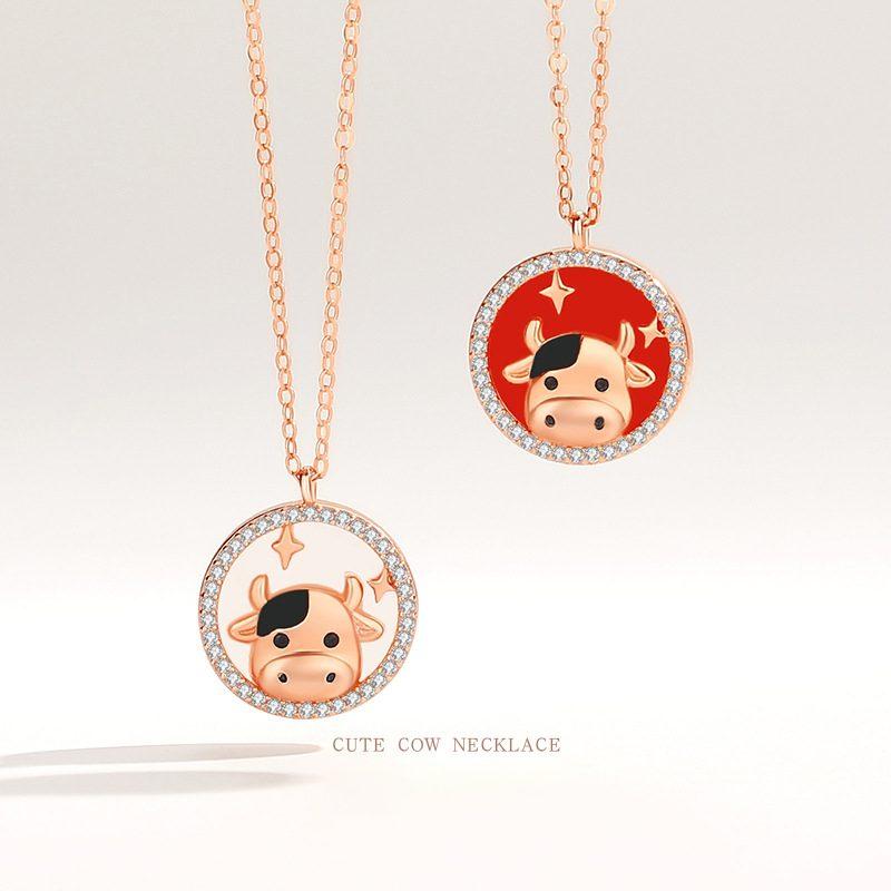 Bộ trang sức bạc mạ vàng sửu dễ thương LILI_871269-09