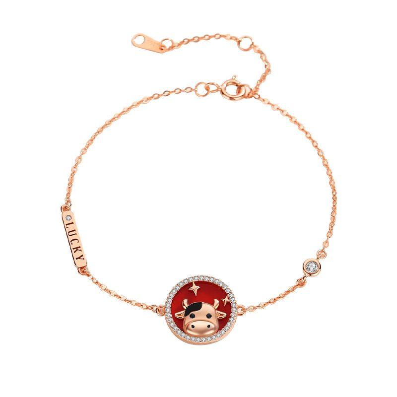 Bộ trang sức bạc mạ vàng sửu dễ thương LILI_871269-11