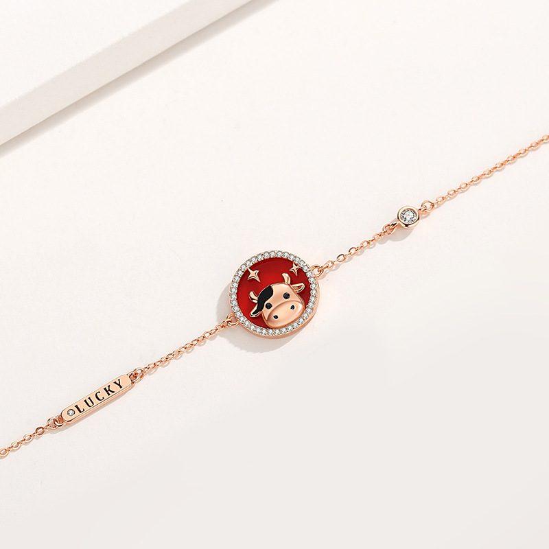 Bộ trang sức bạc mạ vàng sửu dễ thương LILI_871269-12