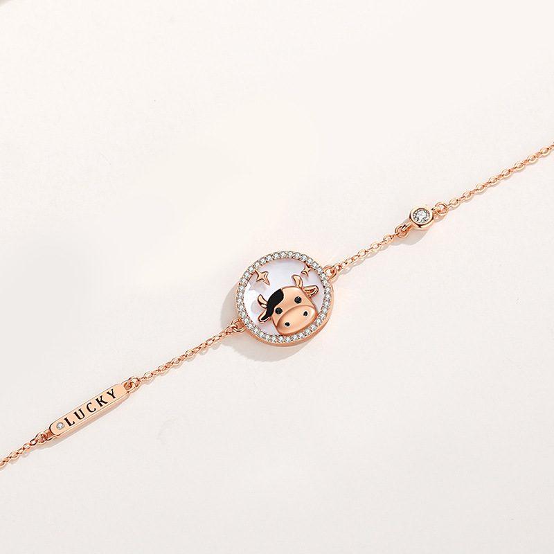 Bộ trang sức bạc mạ vàng sửu dễ thương LILI_871269-13