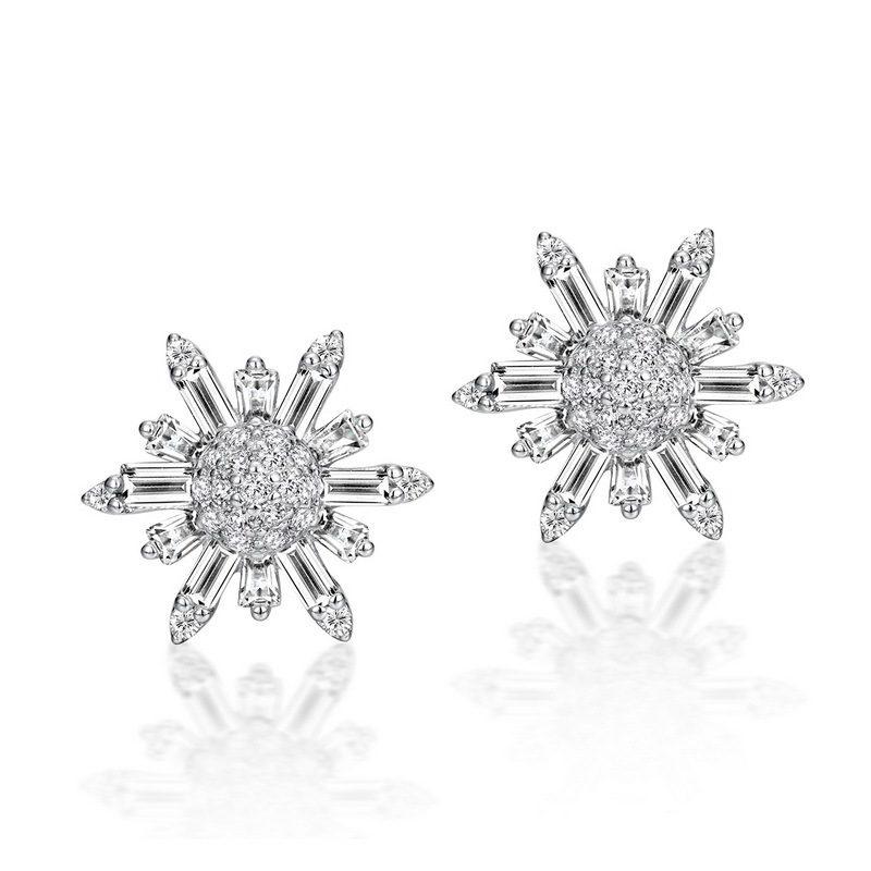 Bông tai bạc đính đá Zircon hình bông tuyết LILI_355594-01