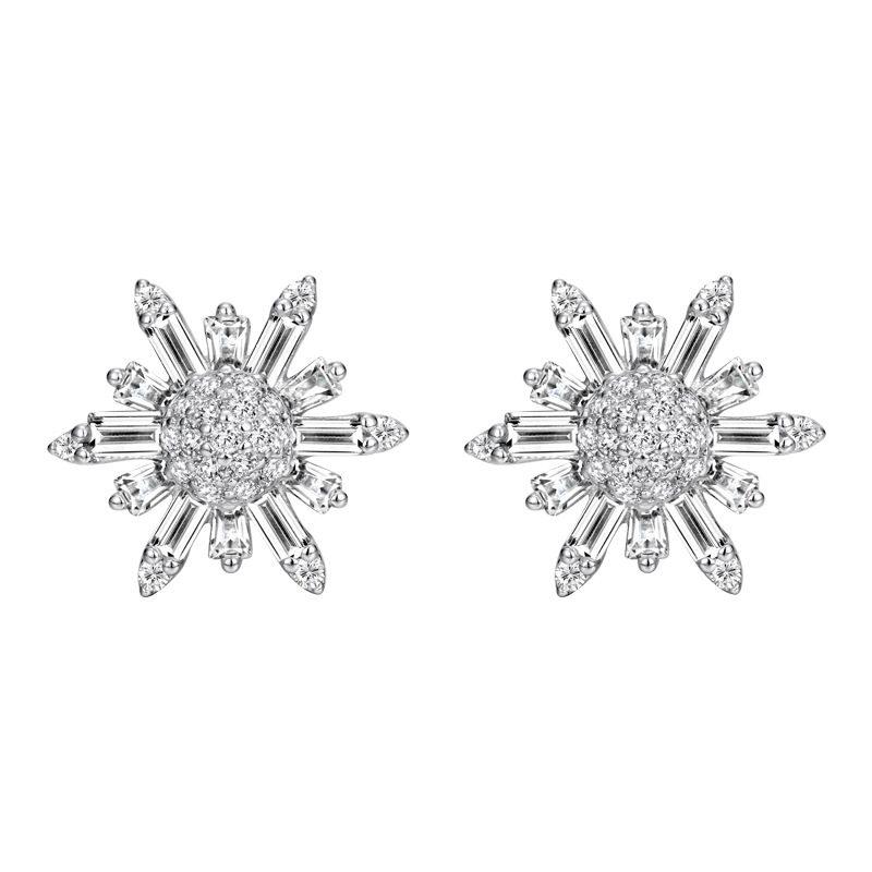 Bông tai bạc đính đá Zircon hình bông tuyết LILI_355594-04