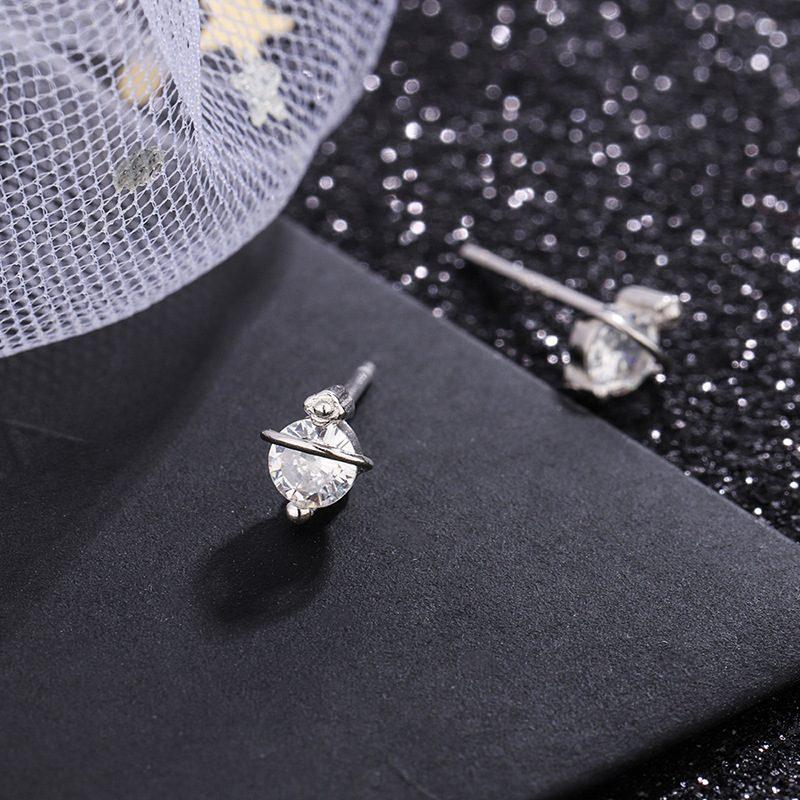 Bông tai bạc đính đá Zircon hình ngôi sao mộc LILI_358258-05