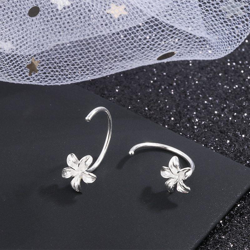 Bông tai bạc hình bông hoa 5 cánh LILI_374119-04