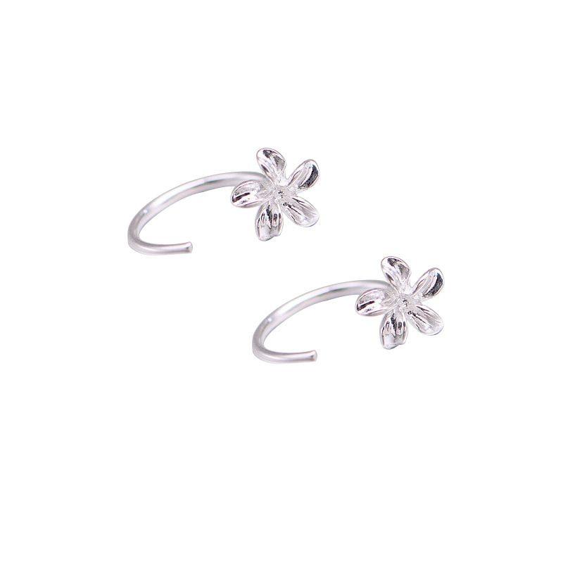 Bông tai bạc hình bông hoa 5 cánh LILI_374119-06