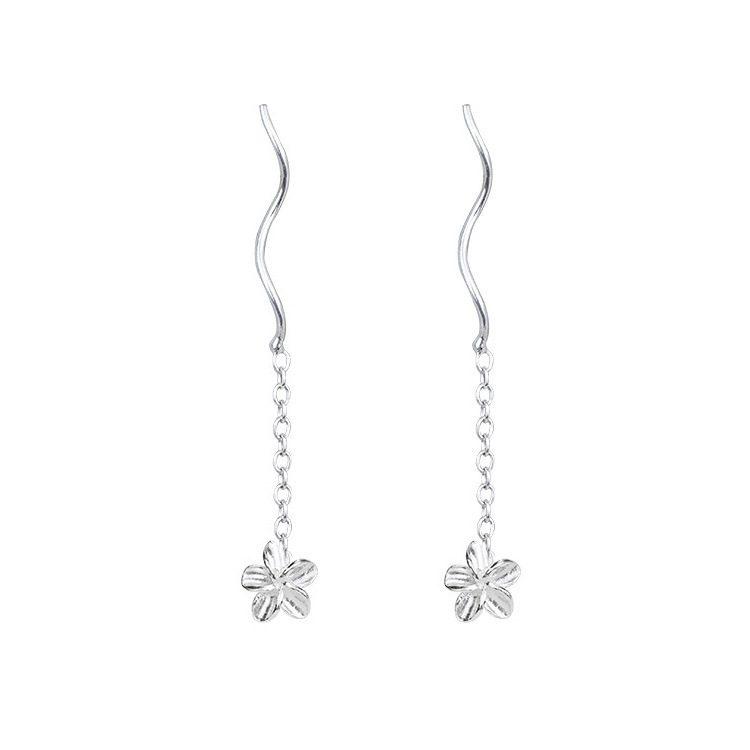 Bông tai bạc hình bông hoa 5 cánh LILI_377294-04