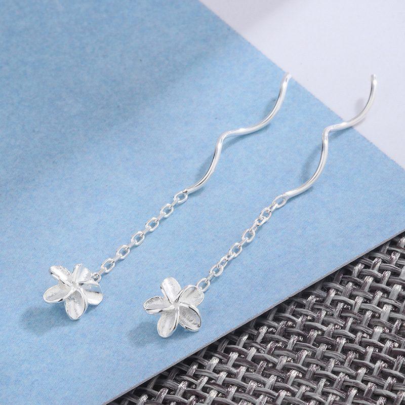 Bông tai bạc hình bông hoa 5 cánh LILI_377294-06