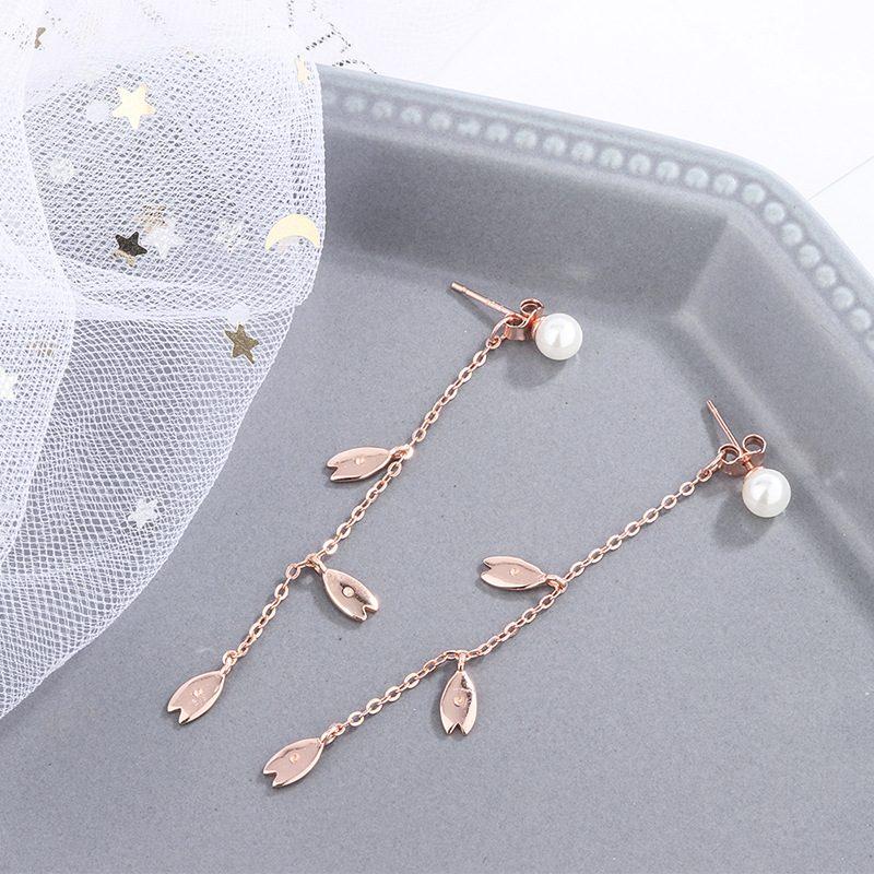 Bông tai bạc hình những chiếc lá xuân LILI_992479-03