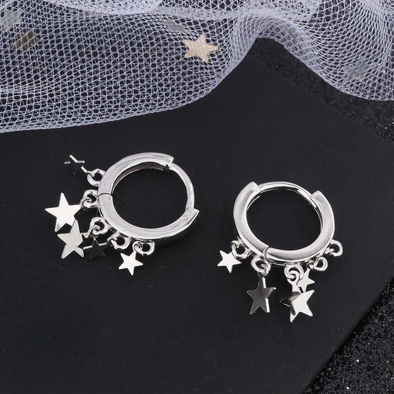 Bông tai bạc hình những ngôi sao 5 cánh LILI_236317-05