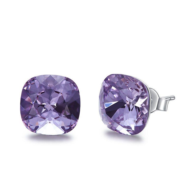 Bông tai bạc mạ bạch kim đính đá Swarovski Lovely Day LILI_237957-04