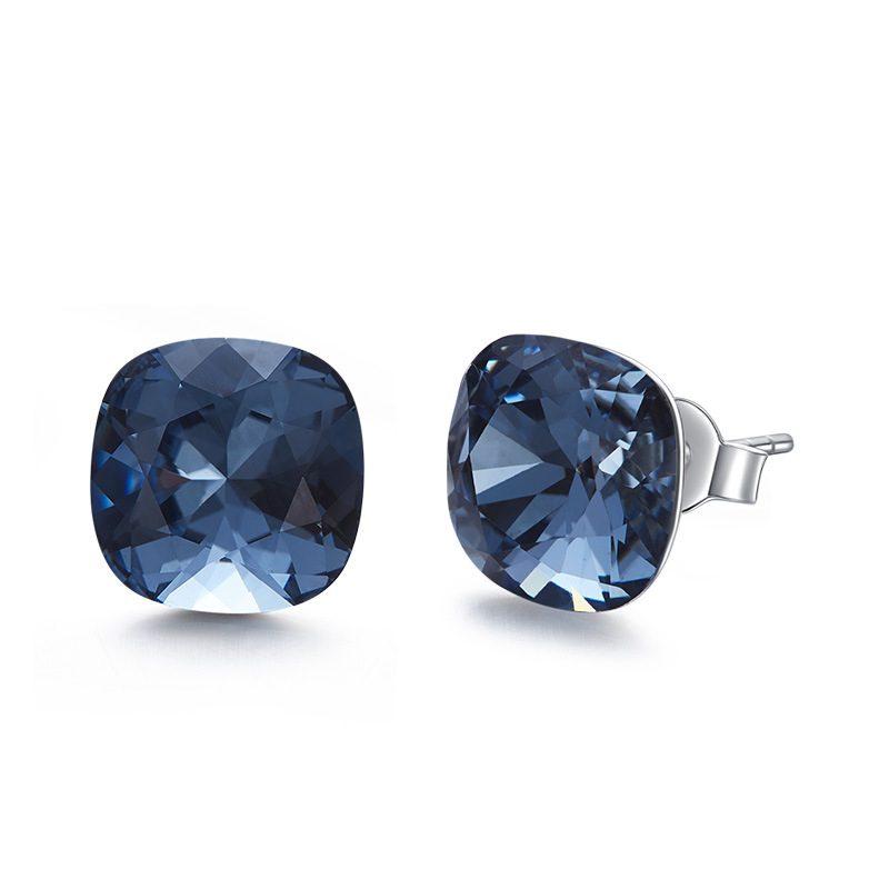 Bông tai bạc mạ bạch kim đính đá Swarovski Lovely Day LILI_237957-05