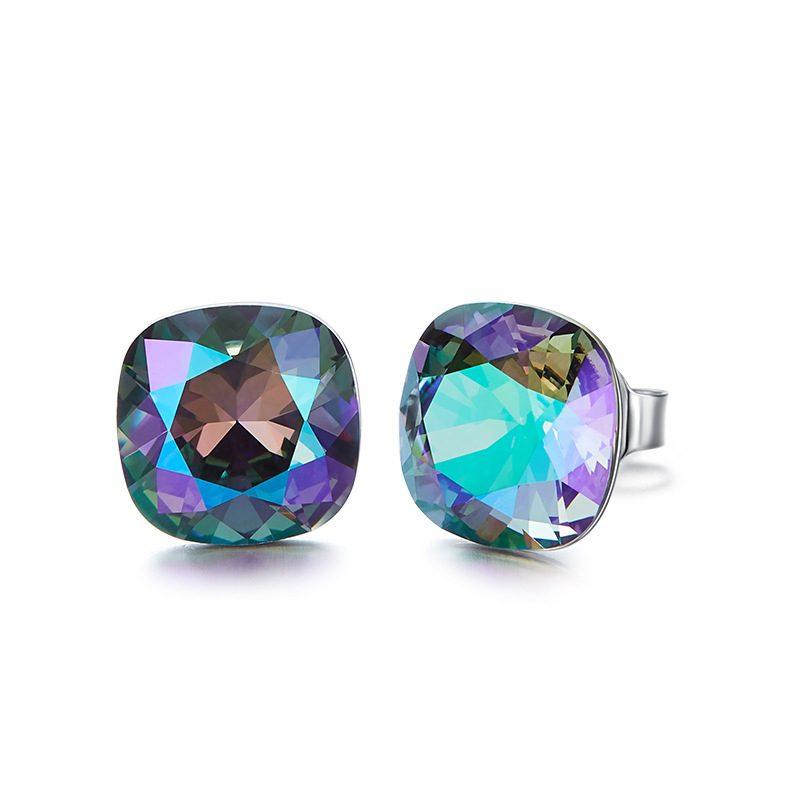 Bông tai bạc mạ bạch kim đính đá Swarovski Lovely Day LILI_237957-06