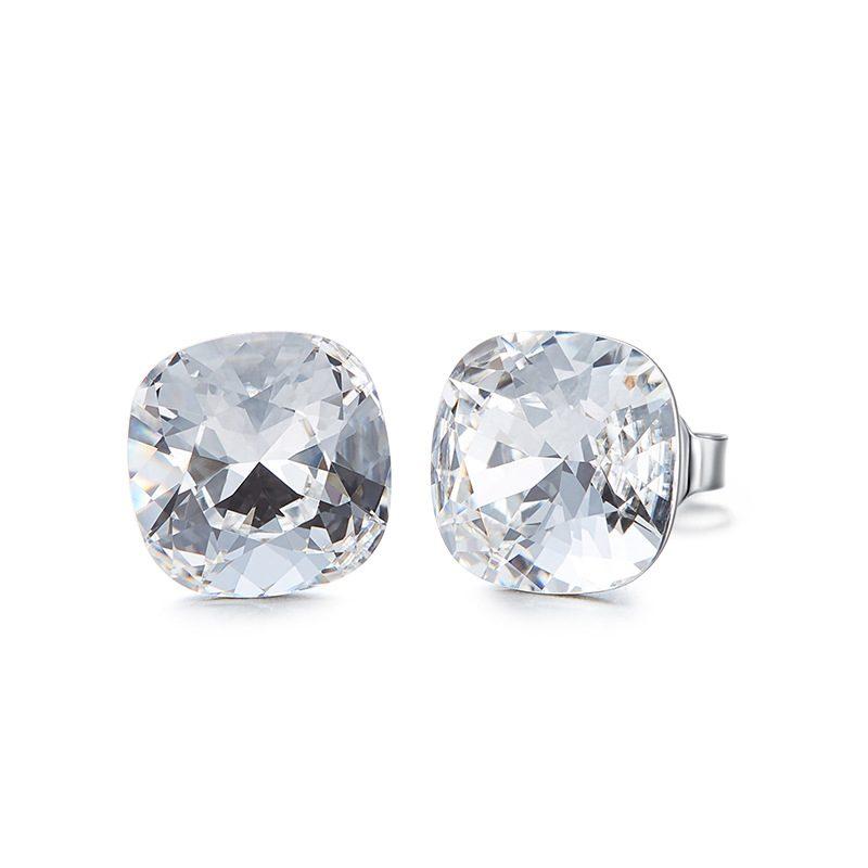 Bông tai bạc mạ bạch kim đính đá Swarovski Lovely Day LILI_237957-07