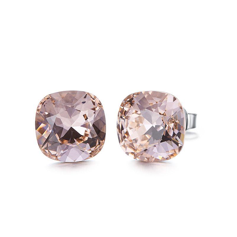 Bông tai bạc mạ bạch kim đính đá Swarovski Lovely Day LILI_237957-12