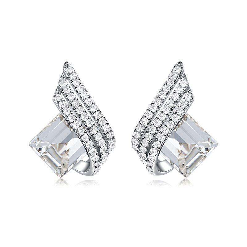 Bông tai bạc mạ bạch kim đính đá Swarovski The Archangle LILI_366293-03